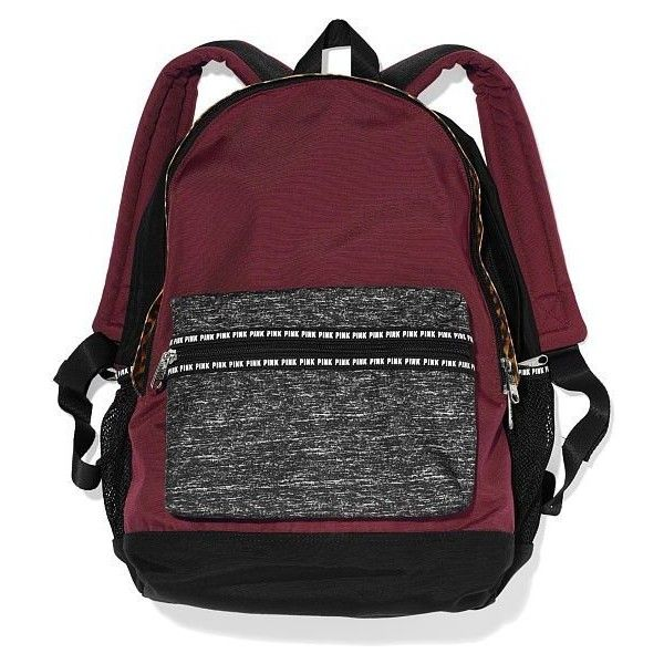 NWT Victoria's Secret Pink Padded Laptop Sleeve Backpack School Book... ($110) ❤ liked on Polyvore featuring bags, backpacks, backpacks bags, victoria secret backpack, daypacks, black rucksack and victoria's secret