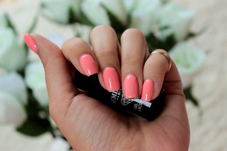 Kosmetyczna Hedonistka: Beauty | Lifestyle: IDEALNY MANICURE NA LATO: SEMILAC 102 PASTEL PEACH .