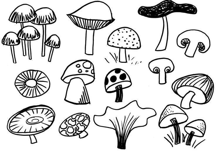 mushroom mushrooms sketches trippy drawing drawings sketch doodles coloring pages easy simple rogers google sketching doodle flower patterns template hugging