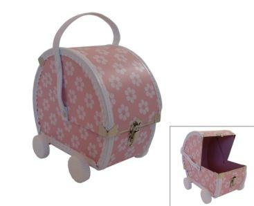 Bobangles Pram Case Pink          Price: $40.95     Irresistible floral pram case by Bobangles!     The ultimate accessory and treasure hide away in one - sure to delight any little girl!  Comes with movable wheels, side clasp and adjustable strap.