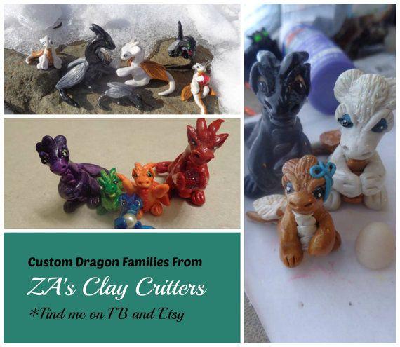 Clay Dragon Families - $5 per dragon.