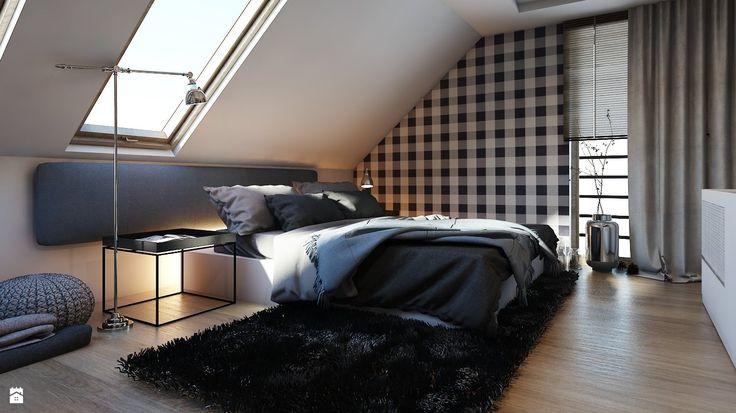 Sypialnia styl Nowoczesny - zdjęcie od A2 STUDIO pracownia architektury - Sypialnia - Styl Nowoczesny - A2 STUDIO pracownia architektury