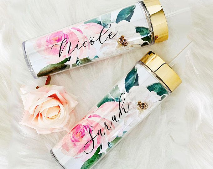 Floral Tumbler Initial Mugtumbler Bridesmaid Gift Maid Of Honor Gift Bride Gift For Bride Bridal Shower Gift Hostess Gift Ideas Eb3113fl In 2020 Bridesmaid Tumbler Bridesmaid Water Bottle Bridesmaid Gifts Unique
