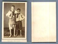 Algèrie, taouled del Place vintage carte de visite, CDV, CDV, tirage albuminé