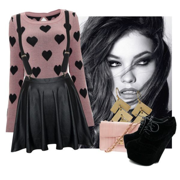 edgy girly fashion | fashion look from August 2013 featuring Lipsy sweaters, Chanel ...