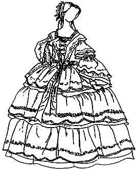Предметы женского костюма 19 век
