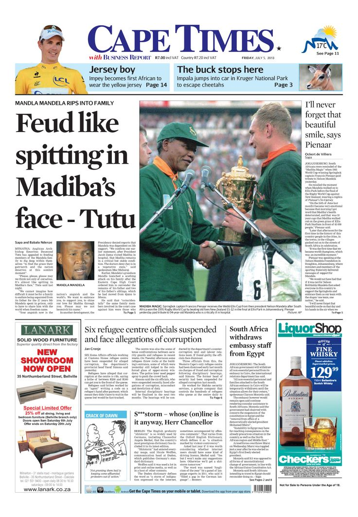 News making headlines: Feud like spitting in Madiba's face - Tutu