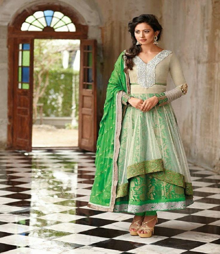 Style  : Wedding Salwar Suit Fabric  : Net - Chiffon Occassion: Party wear, traditional wear,wedding wear