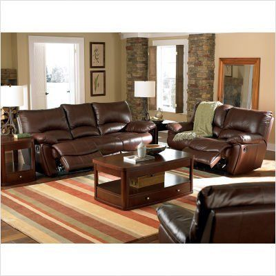 Bundle-03 Red Bluff Dual Reclining Sofa and Loveseat Set (6 Pieces) by Wildon Home. $5246.38. [***INCLUDED IN THIS SET: (2)Red Bluff Dual Leather Reclining Sofa, (2)Bluff Reclining Loveseat, (2)Red Bluff Leather Recliner] Features: -Casual style.-Pillow arm provides plush comfort.-Leather match.-Exterior handle.-Rocker recliners on love seat.-Sinuous spring base with webbing in the back. Includes: -Set includes dual reclining sofa and loveseat. Color/Finish: -Dark Brown finish...