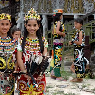 Dayak Kenyah in Pampang village still perform traditional gathering which is one of great attraction in busy city like Samarinda, east Kalimantan.