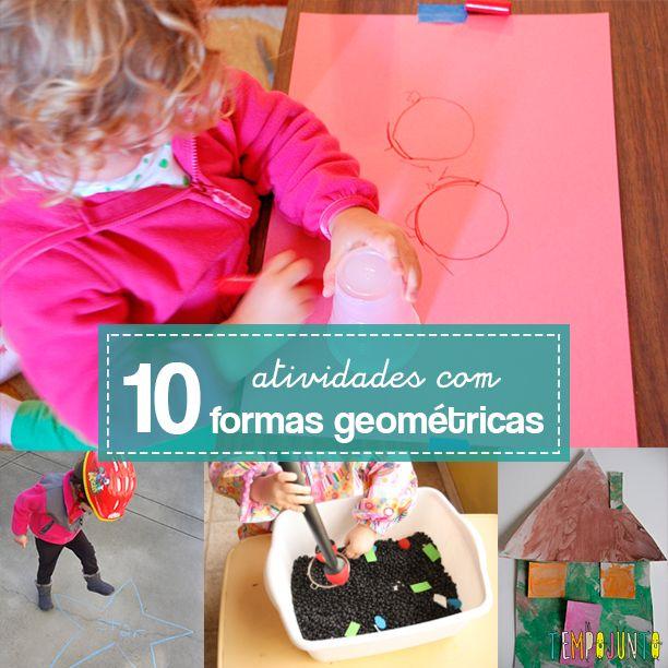 Dicas de como fazer atividades com formas geométricas para divertir e ensinar crianças de 3 a 6 anos.