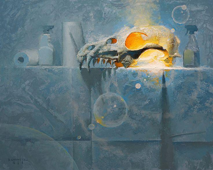 Stench Of Power by David Cheifetz Oil ~ 16 x 20