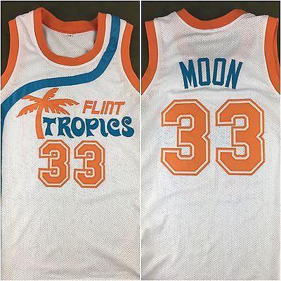 Jackie Moon Flint Tropics Semi-Pro Will Ferrell Movie Stitched Jersey Costume S