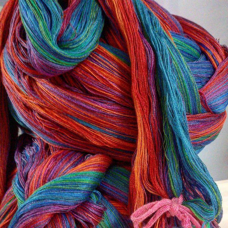 Warp ready to be beamed | McKernan Woollen Mills | Handmade scarves | Made in Ireland | Irish Design | Weaving | Knitting Mens & Womens Accessories
