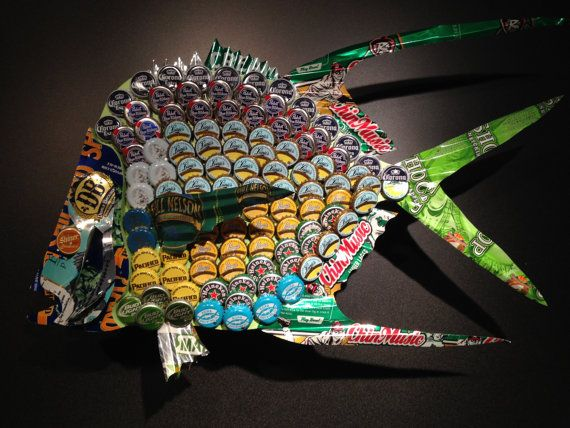 139 best Beer bottle top art images on Pinterest | Beer caps, Bottle ...
