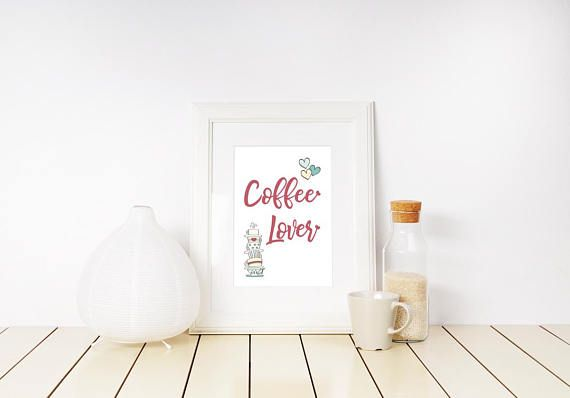 Love Print Coffee Lover Home Decor Motivational Poster 25% discount to all our listings in love category and to all our listings in fleurs du mal category, until Valentine's Day! Shop today! Spread love and passion this month ...and everyday! - Visit Kornela Shop   https://www.etsy.com/shop/Kornela