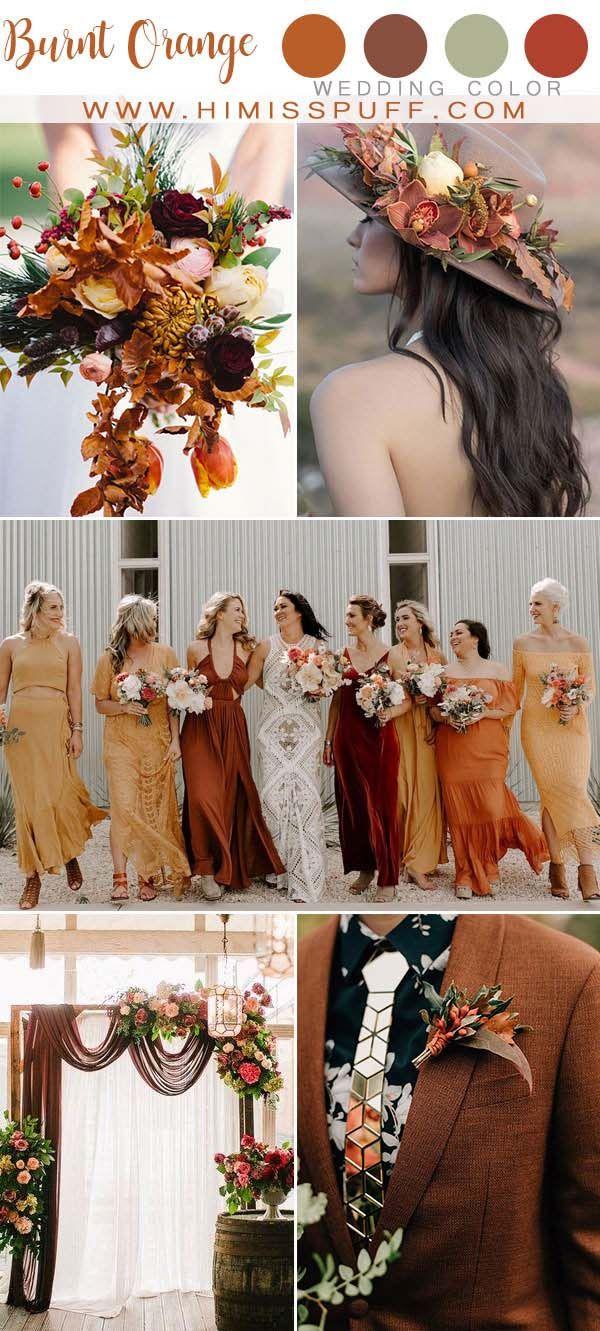 Top 10 Fall Wedding Color Ideas 2020 Orange wedding