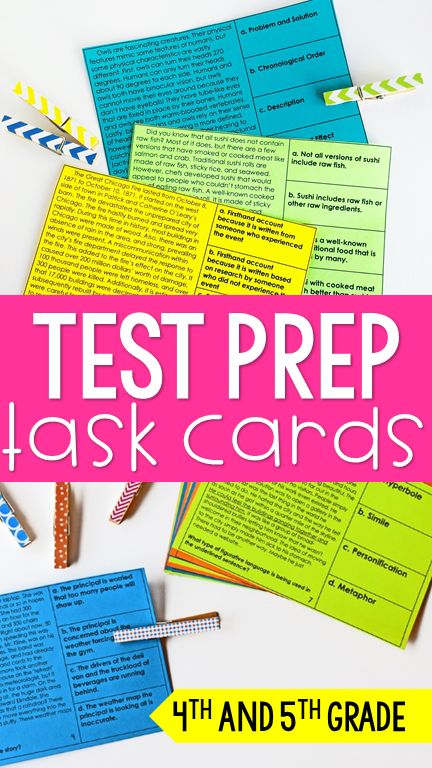 These reading test prep task cards are perfect for test prep centers, test prep review, or even re-teaching. Fiction and nonfiction reading skills included! The texts and skills are aligned to 4th and 5th grade reading skills.