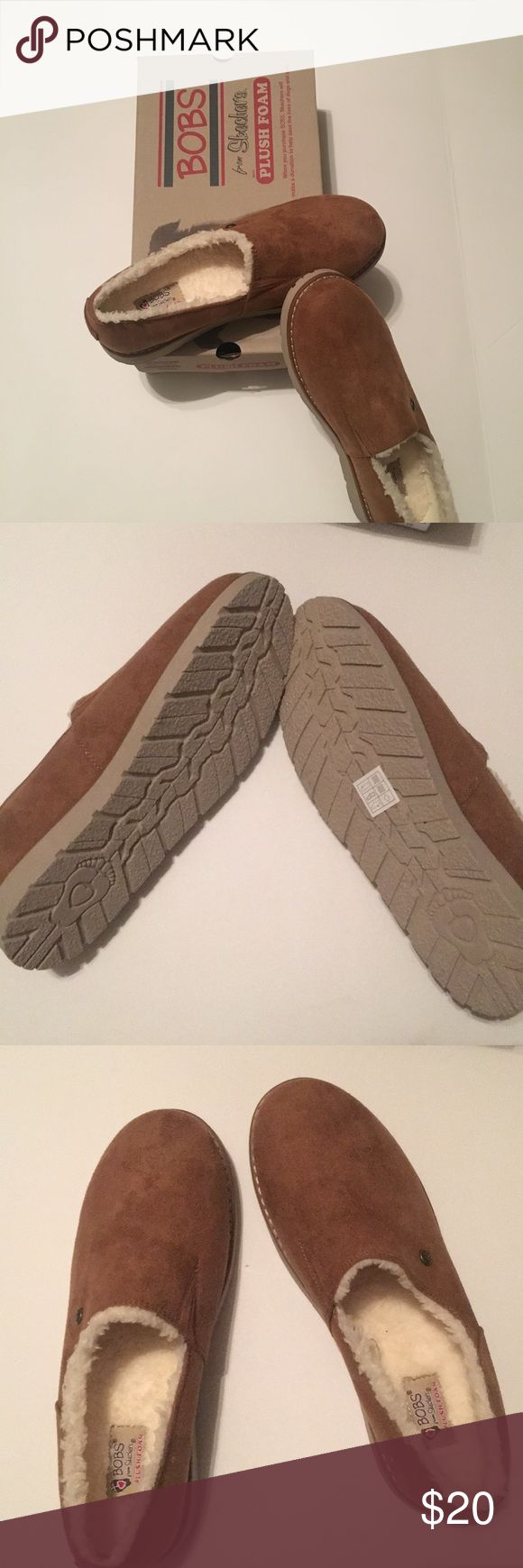 NIB Sketcher's Foam BOBS Shoe's BOBS Plush Foam Skechers. Fur lined beautiful chestnut NIB never worn! Be toasty warm and chic this winter! All day comfort optimal support instant rebound. Skechers Shoes Slippers