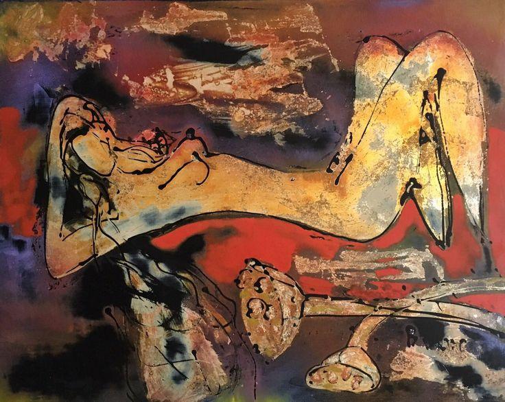Phuong Binh is a Vietnamese painter, lacquer painting by Phuong Binh, Dzo paper painting by Phuong Binh.