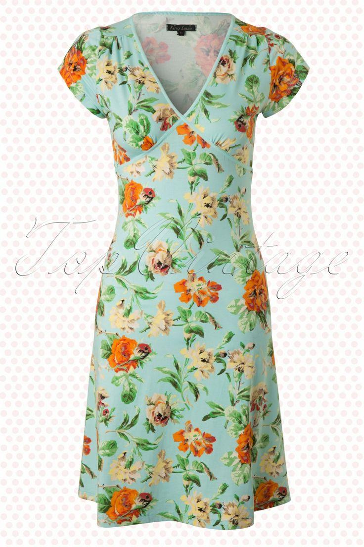King Louie - 50s Rose Garden Bay Blue Cup Dress  I LOVE IT!!