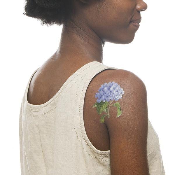 Scented Blue Hydrangea Temporary Tattoo Set