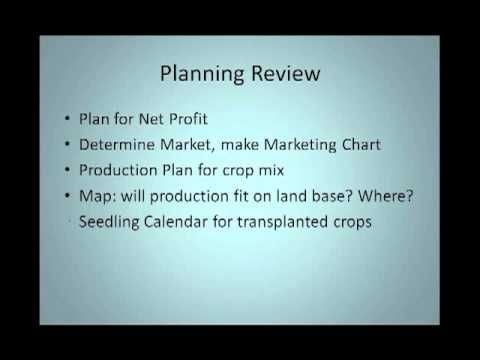 Planning Your Organic Farm for Profit Webinar - eXtension