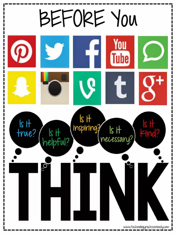 technology rocks. seriously.: BEFORE You Post: THINK