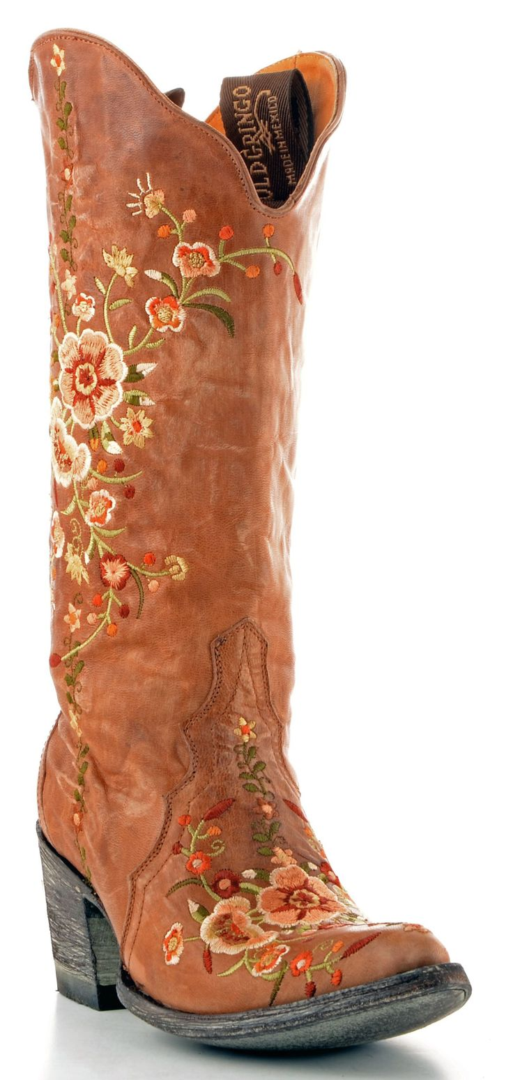 flowery boots.