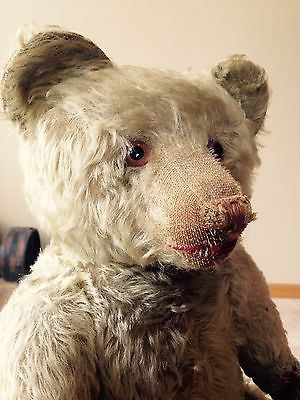Antique German Straw Filled Teddy Bear Large