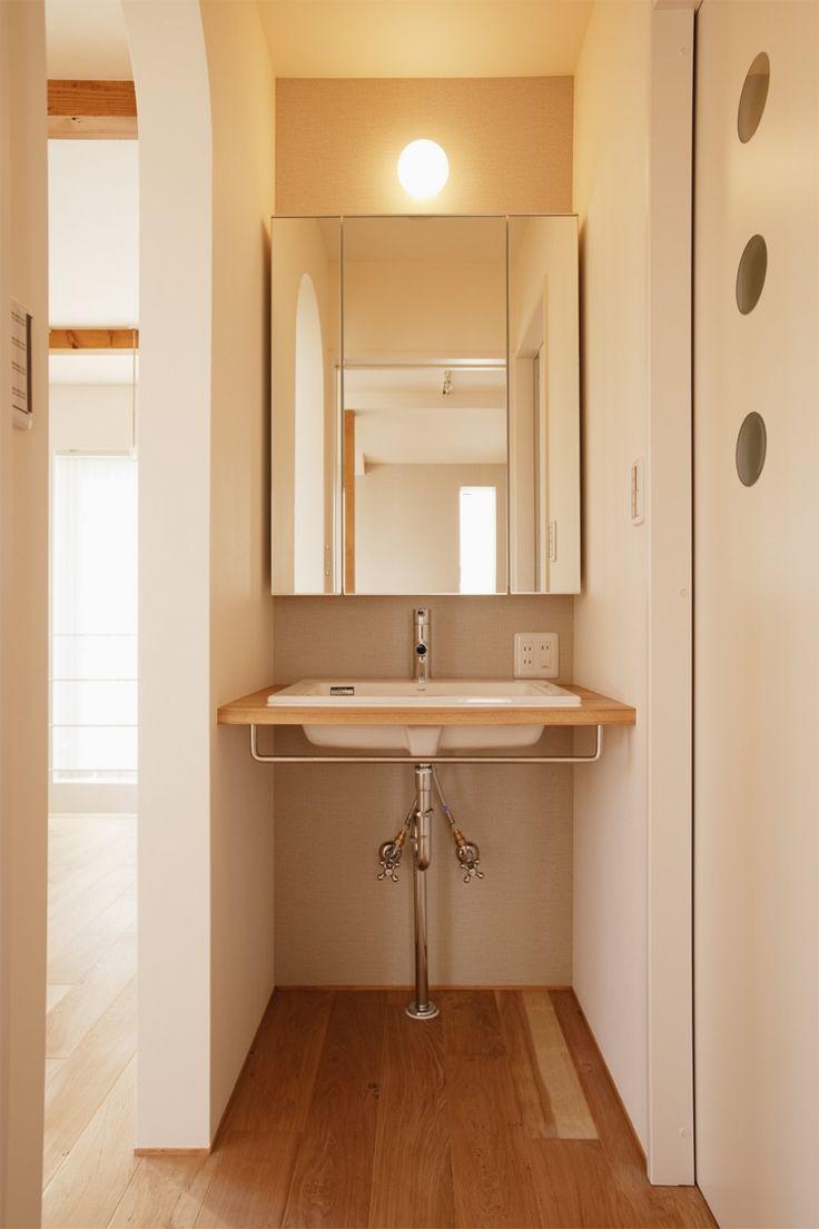 バス/トイレ事例:洗面台(K邸・音楽室のある光あふれる小さなお家)