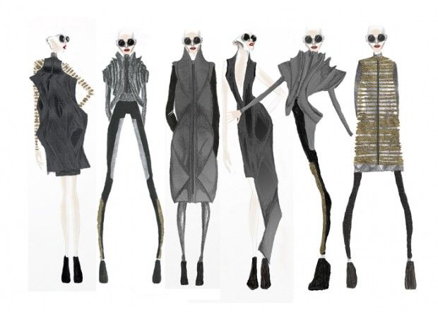 Fashion Sketchbook - fashion drawings; collection line up; fashion portfolio // Hannah Eason