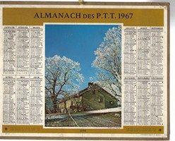 Calendrier Almanach des P.T.T de 1967