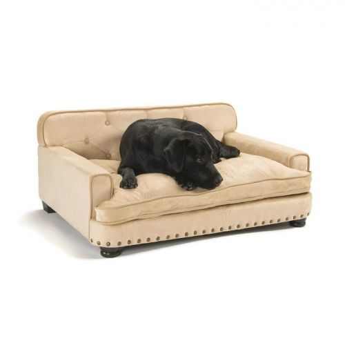 Library dog bed caramel 237 the library sofa is a large for Upholstered dog bed