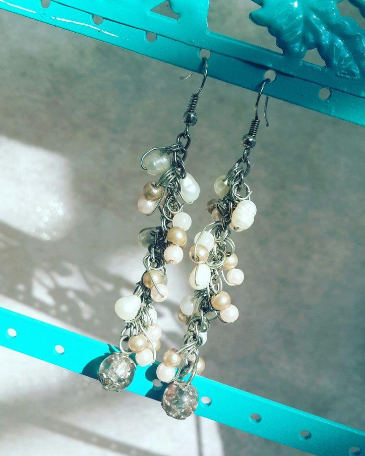 Wedding dangling earrings