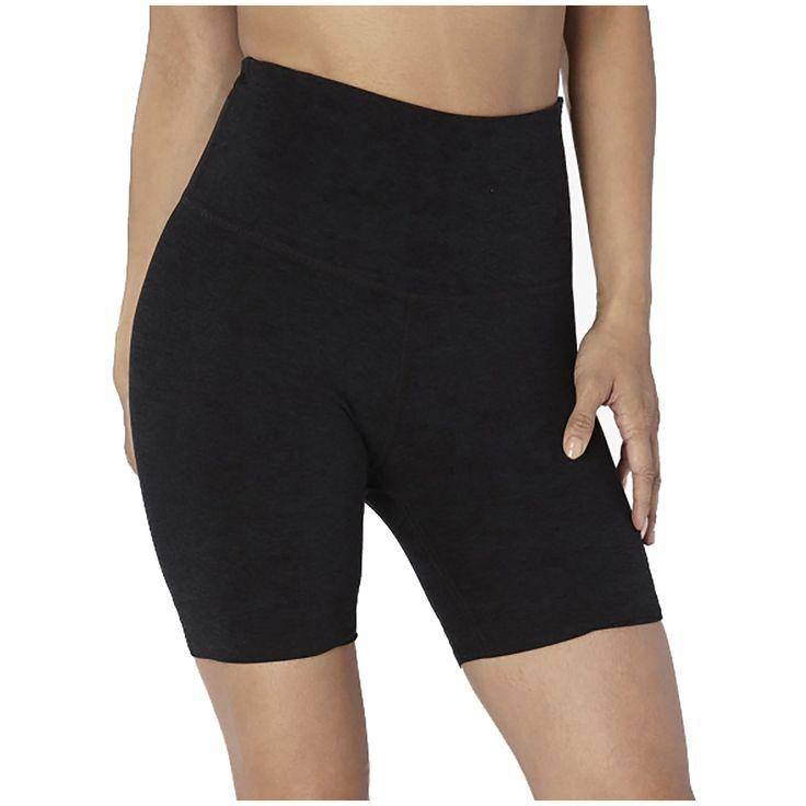 Women's Beyond Yoga Spacedye High-Waisted Biker Shorts 2019 - Large Black   Spandex/Polyster 13