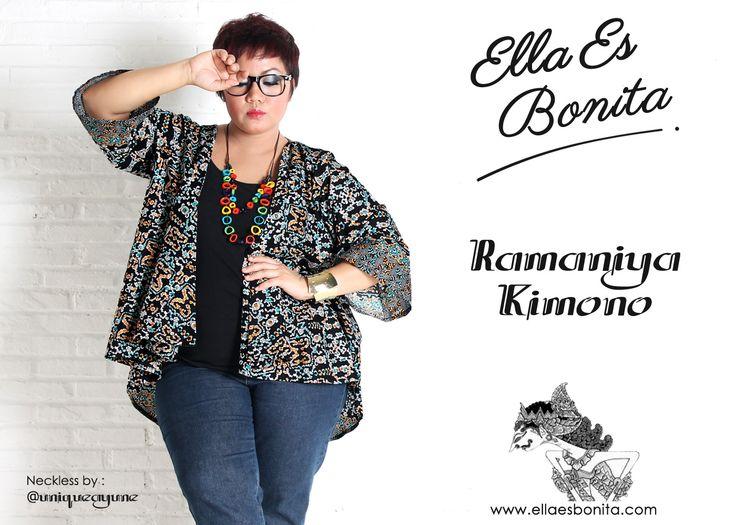 Ramaniya Kimono - This kimono features high quality batik cotton which specially designed for sophisticated curvy women originally made by Indonesian Designer & Local Brand: Ella Es Bonita. Available at www.ellaesbonita.com