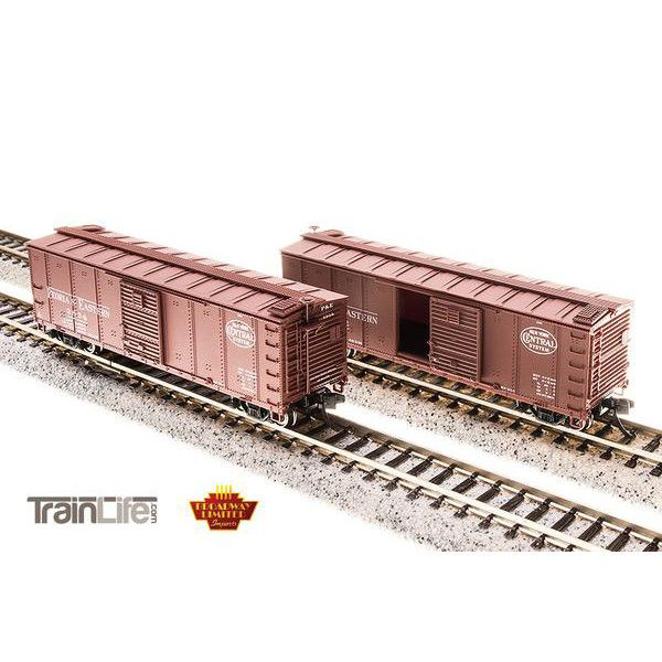 N Scale: P&E Steel Boxcar : 4-pack (Corrugated ends, pre-1955 Roman Lettering)
