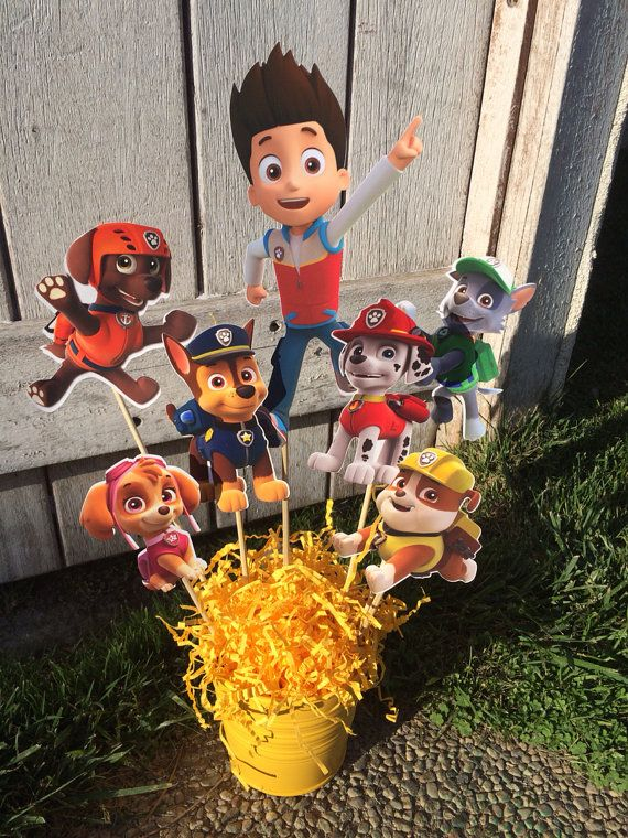 Paw Patrol Party Decoration Centerpiece by myhusbandwearscamo: