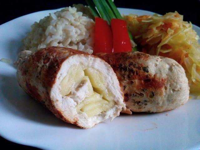 magiczna kuchnia Kasi: Roladki z kurczaka z cukinią