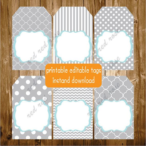 152 best tags stickers labels images on pinterest baby shower editable printable labels gift tags thank by redredrosehandmade negle Gallery