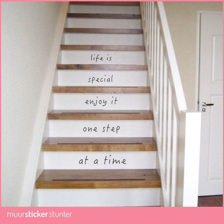 Een Mooie Trapsticker Kies je Eigen Kleur! Life is special Enjoy it one step at…