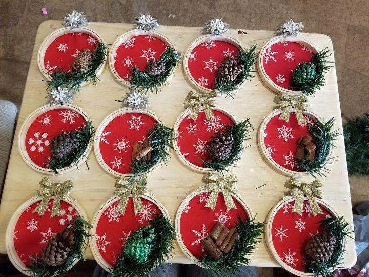 Diy Embroidery Hoop Christmas Tree Ornaments Diy Christmas Tree Ornaments Christmas Ornaments Christmas Tree Ornaments