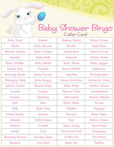 easy baby shower games baby shower bingo bunny baby showers easter