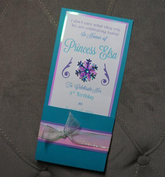 Elsa Frozen Inspired Custom Handmade Princess Birthday