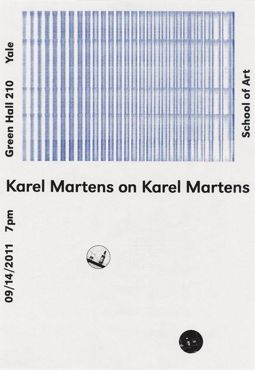 Karel Martens on Karel MartensPoster, 2011
