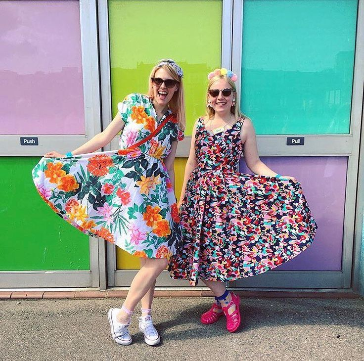 Sew Over It Penny Dress (left) and Elsie Dress (right)!