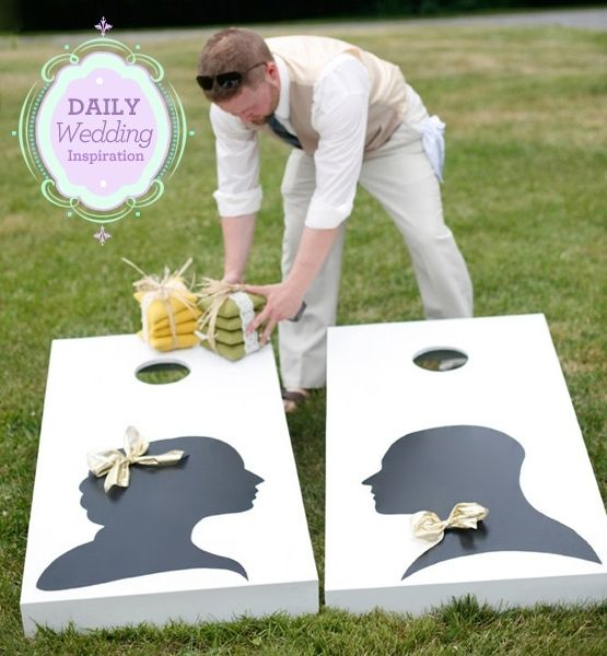 Corn Toss during cocktail hour? Awesome!: Corn Hole, Idea, Lawn Games, Wedding Games, Weddings Games, Beans Bags, Bean Bags, Outdoor Weddings, Cornhole