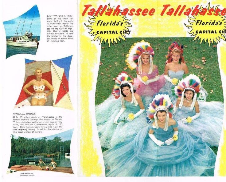 Florida Travel Brochure Tallahasse Capital City Bathing Beauty Beauties 1950's