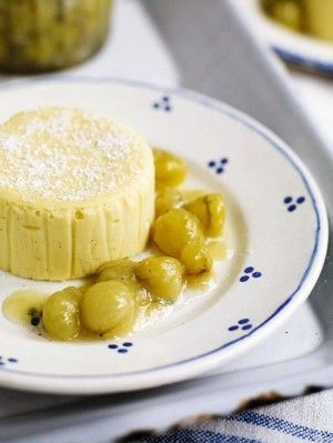 clotted cream and vanilla cheesecake with gooseberries and more